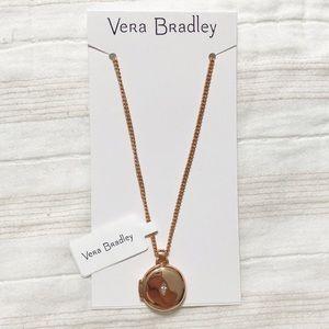 NWT Vera Bradley Rose Gold Photo Locket Necklace